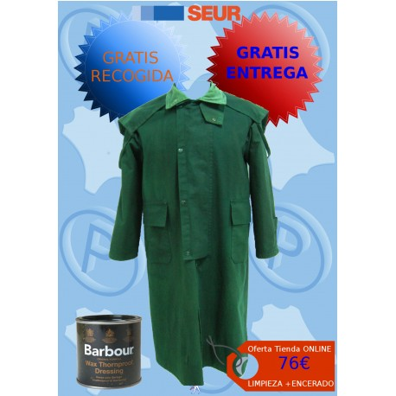 limpieza y encerado de abrigo textil barbour